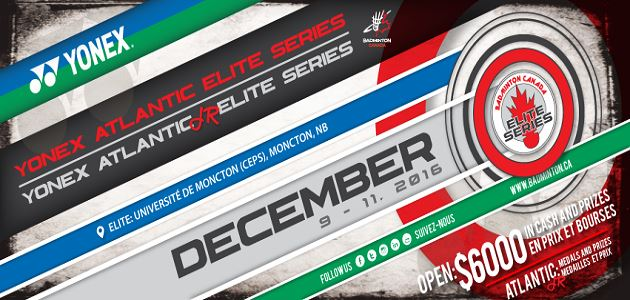 2016 Yonex Atlantic Elite Series & Junior Elite Series