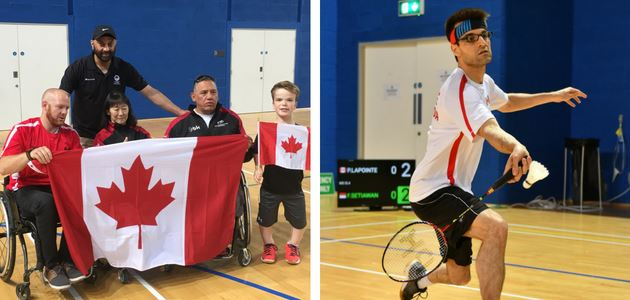 Team Canada at the 2018 FX Forza Irish Para-badminton International