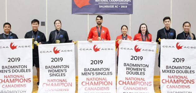 2019 CCAA National Badminton Championships Results